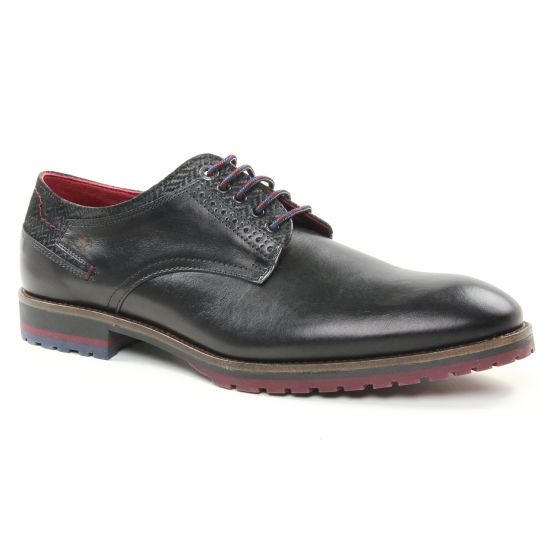 Chaussures Basses À Lacets Fluchos F0273 Negro, vue principale de la chaussure homme