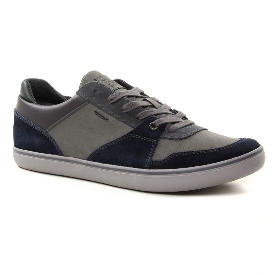 Tennis Geox U74R3A Navy Anthracite, vue principale de la chaussure homme