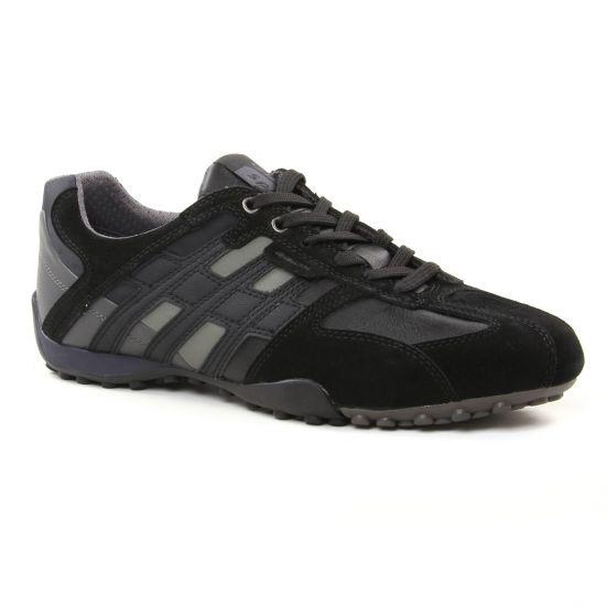 Tennis Geox U4207K Black, vue principale de la chaussure homme