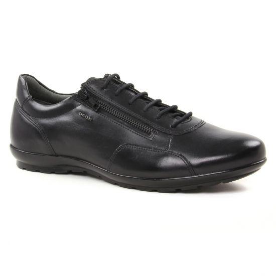 Tennis Geox U74A5A Black, vue principale de la chaussure homme