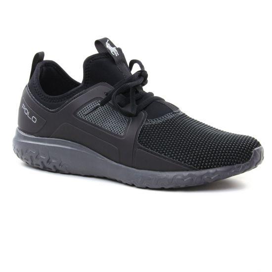 Tennis Polo Ralph Lauren Train150 Black, vue principale de la chaussure homme