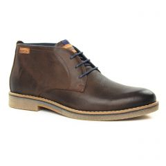 Chaussures homme hiver 2019 - bottines Chukka Pikolinos marron