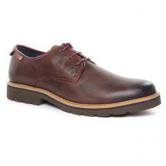 Chaussures homme hiver 2019 - chaussures basses à lacets Pikolinos marron foncé