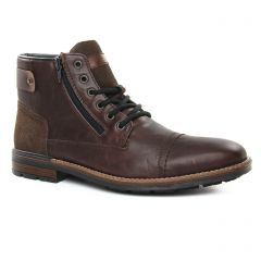 Chaussures homme hiver 2019 - chaussures montantes rieker marron foncé