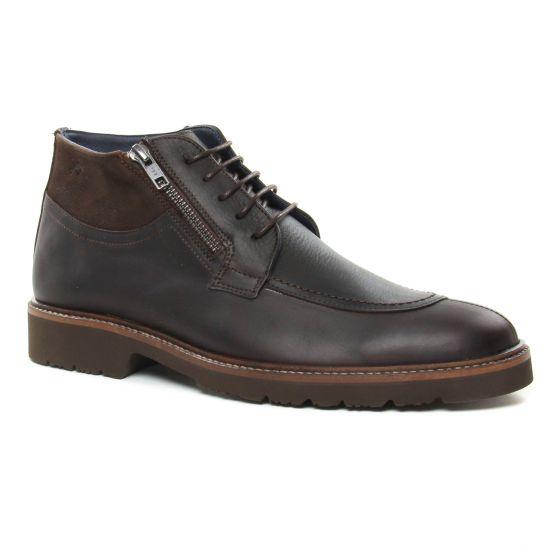 Chaussures Montantes Fluchos F0566 Brandy Cafe, vue principale de la chaussure homme