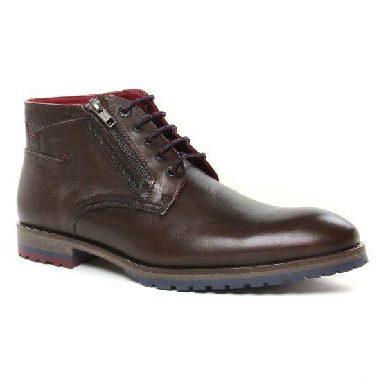 Chaussures Montantes Fluchos F0568 Cafe, vue principale de la chaussure homme
