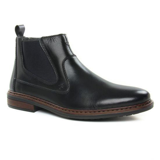 Chaussures Montantes Rieker 37662-00 Noir, vue principale de la chaussure homme