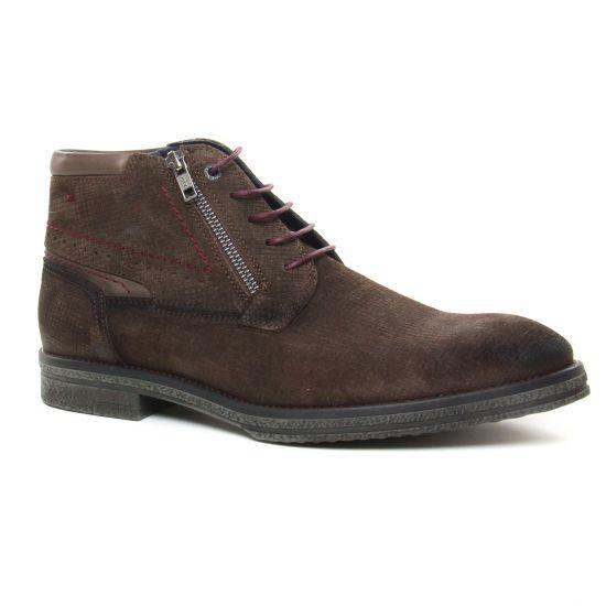 Chaussures Montantes Fluchos F0652 Cafe, vue principale de la chaussure homme