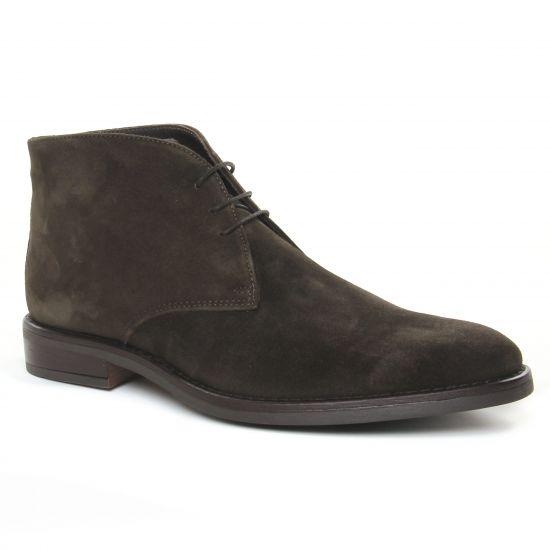 Chaussures Montantes Yann Bolligen 6401 Cioccolato, vue principale de la chaussure homme