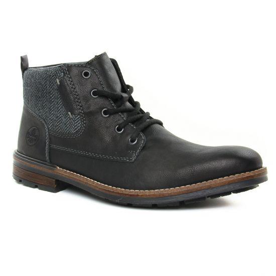 Chaussures Montantes Rieker F1304-00 Noir, vue principale de la chaussure homme