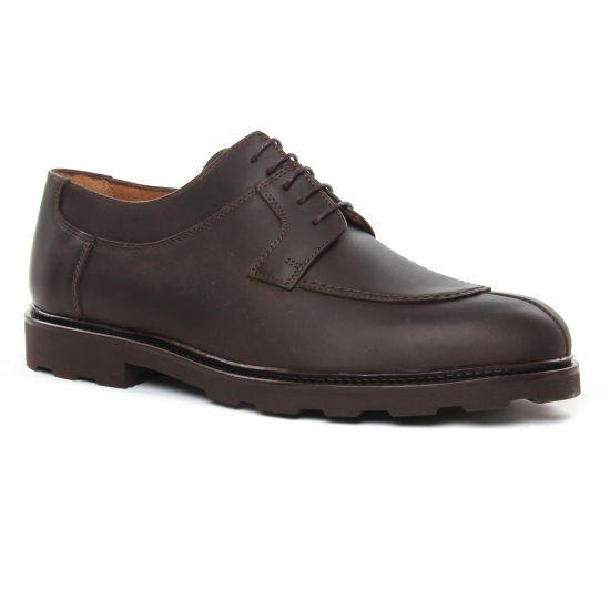 Chaussures Basses À Lacets Brett Sons Hamil Marron, vue principale de la chaussure homme