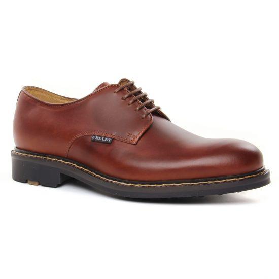 Chaussures Basses À Lacets Christian Pellet Nautilus Tan, vue principale de la chaussure homme