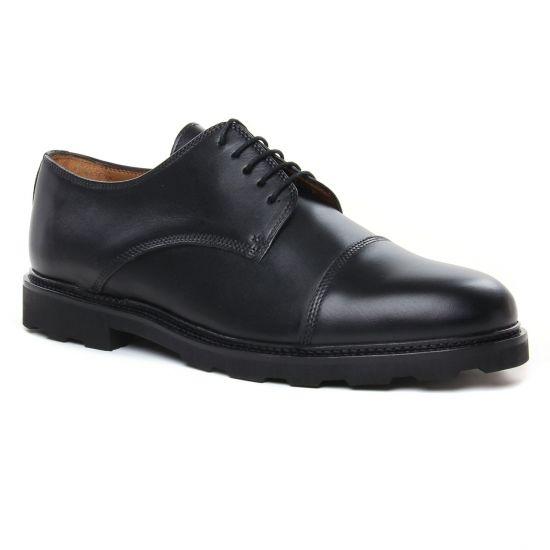Chaussures Basses À Lacets Brett Sons Hilton Noir, vue principale de la chaussure homme