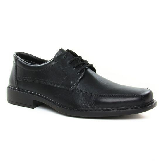 Chaussures Basses À Lacets Rieker B0812 Clarino Nero, vue principale de la chaussure homme
