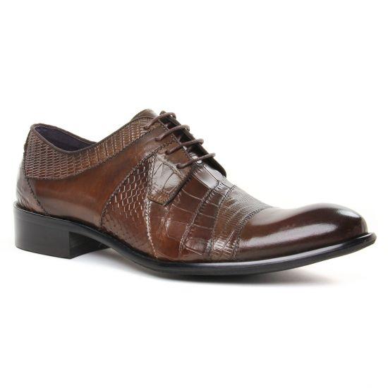 Chaussures Basses À Lacets Kdopa Carter Kaki, vue principale de la chaussure homme