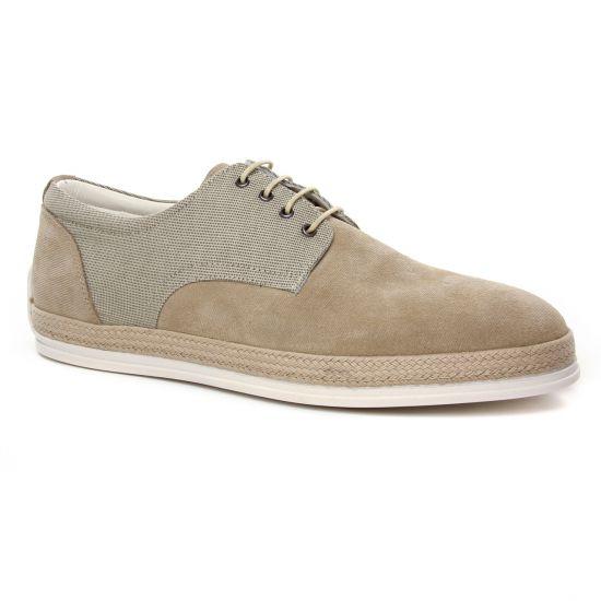 Chaussures Basses À Lacets Twopens Ugano Beige, vue principale de la chaussure homme