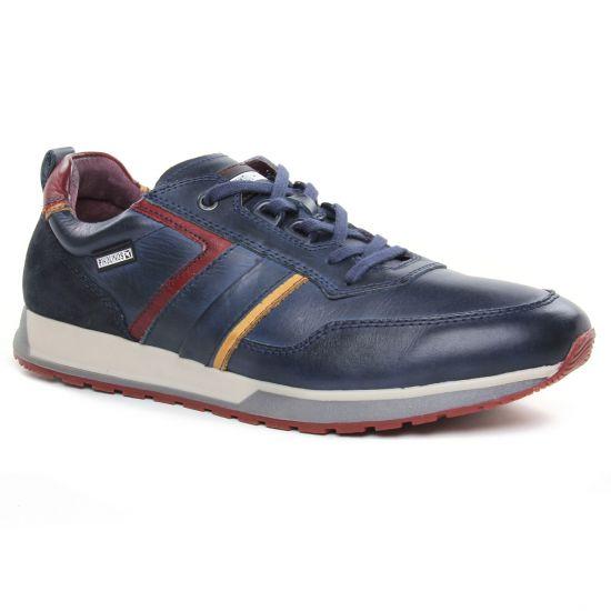 Tennis Pikolinos Cambil 6280 Bleu, vue principale de la chaussure homme