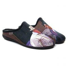 Chaussures homme hiver 2020 - chaussons MAISON DE L'ESPADRILLE multicolore