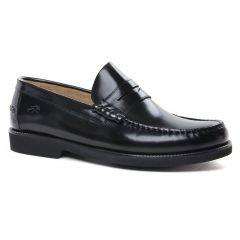 Chaussures homme hiver 2020 - mocassins Fluchos noir vernis