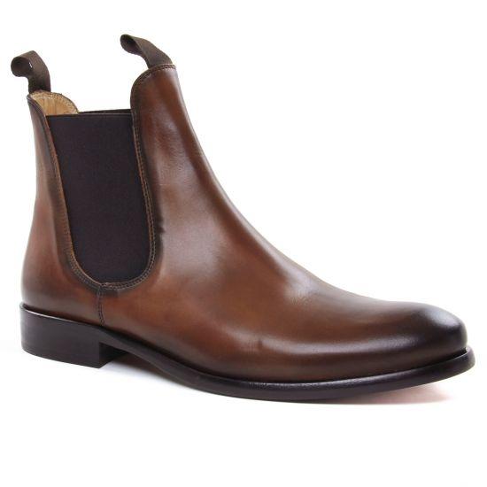 Chaussures Montantes Brett Sons 4107 Cognac, vue principale de la chaussure homme