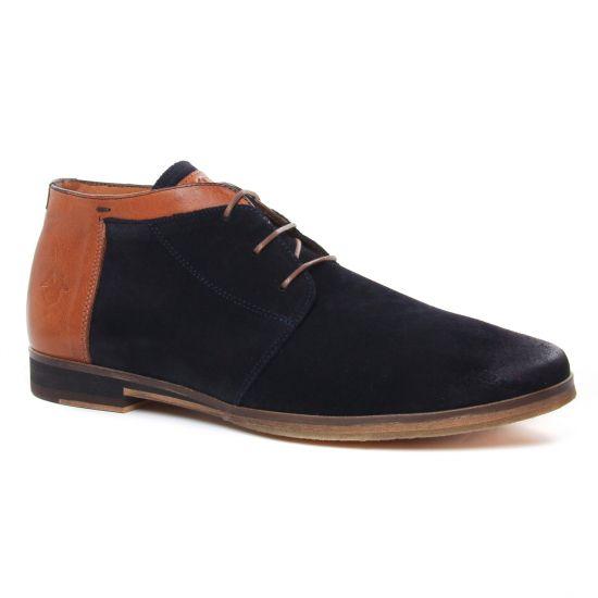 Chaussures Montantes Kost Albe 76 Marine Cognac, vue principale de la chaussure homme