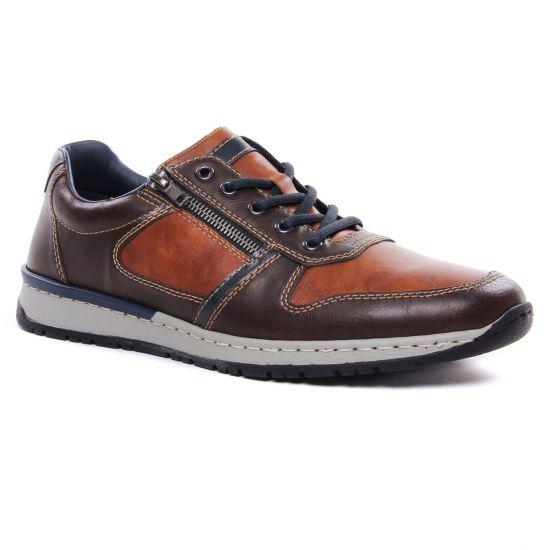 Tennis Rieker B5124-25 Kastanie, vue principale de la chaussure homme