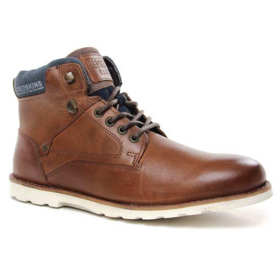 Chaussures Montantes Redskins Pollen Brandy Chataigne, vue principale de la chaussure homme