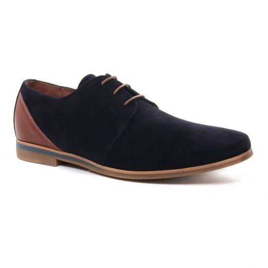 Chaussures Basses À Lacets Redskins Oneila Marine Cognac, vue principale de la chaussure homme