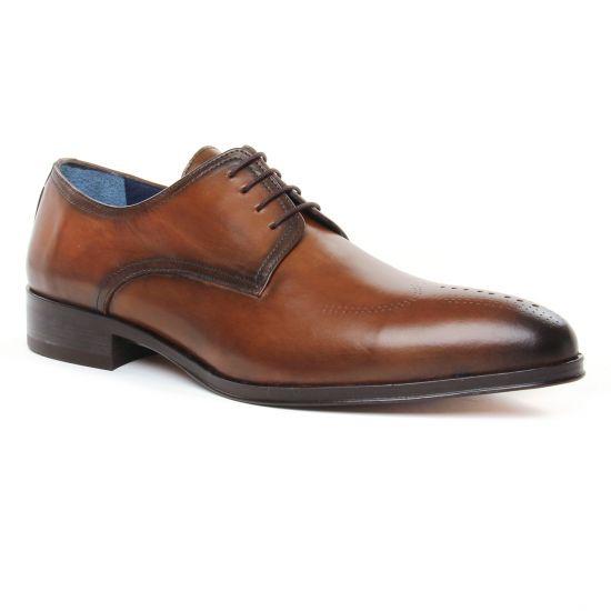 Chaussures Basses À Lacets Brett Sons 3875 Cognac, vue principale de la chaussure homme