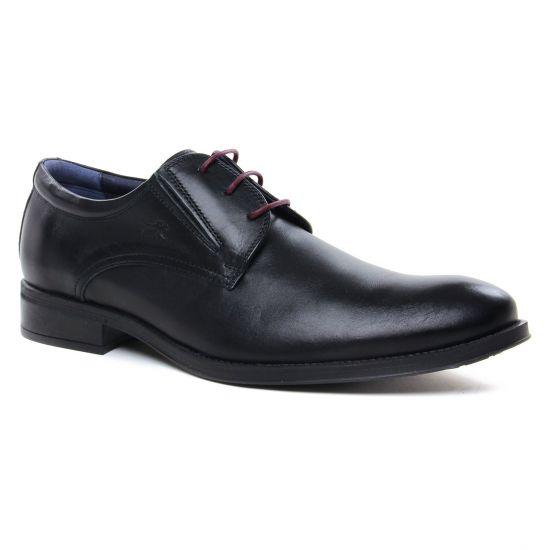 Chaussures Basses À Lacets Fluchos 8410 Noir, vue principale de la chaussure homme