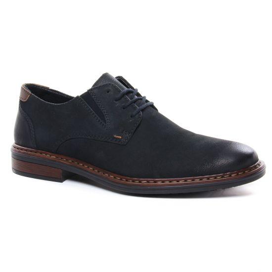 Chaussures Basses À Lacets Rieker 17600-01 Schwarz, vue principale de la chaussure homme