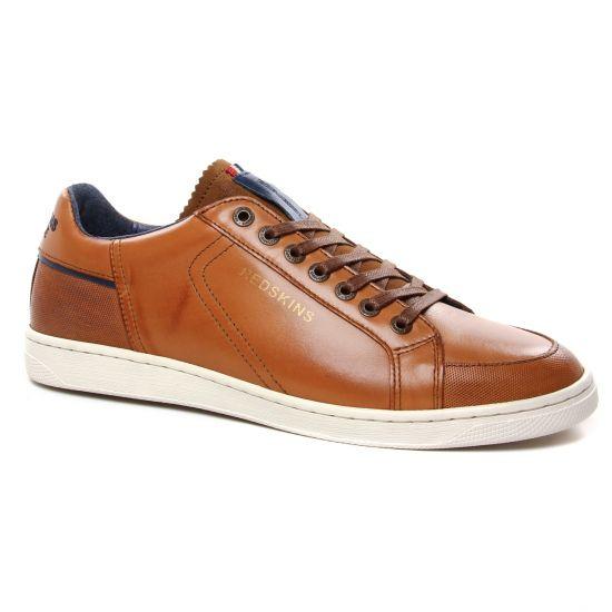 Tennis Redskins Flip Cognac Marine, vue principale de la chaussure homme