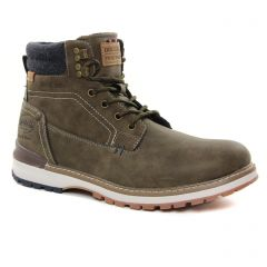 Chaussures homme hiver 2021 - chaussures montantes Dockers vert kaki
