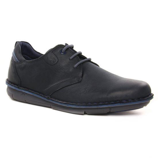Chaussures Basses À Lacets Fluchos F0700 Noir, vue principale de la chaussure homme