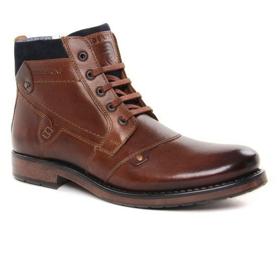 Chaussures Montantes Redskins Noyant Cognac Marine, vue principale de la chaussure homme