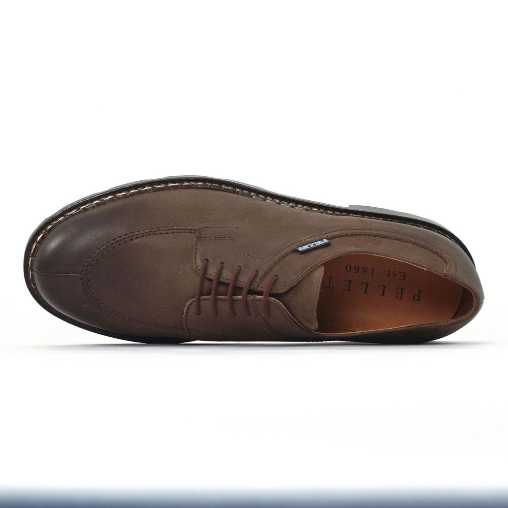 christian pellet montario brown chaussure basse lacets marron mode chez trois par 3. Black Bedroom Furniture Sets. Home Design Ideas