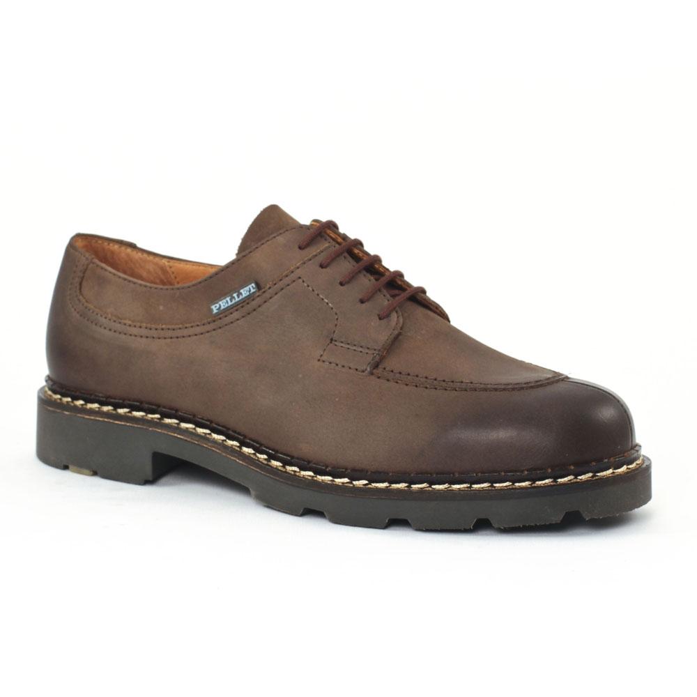 Christian Pellet Montario Noir | chaussure basse à lacets