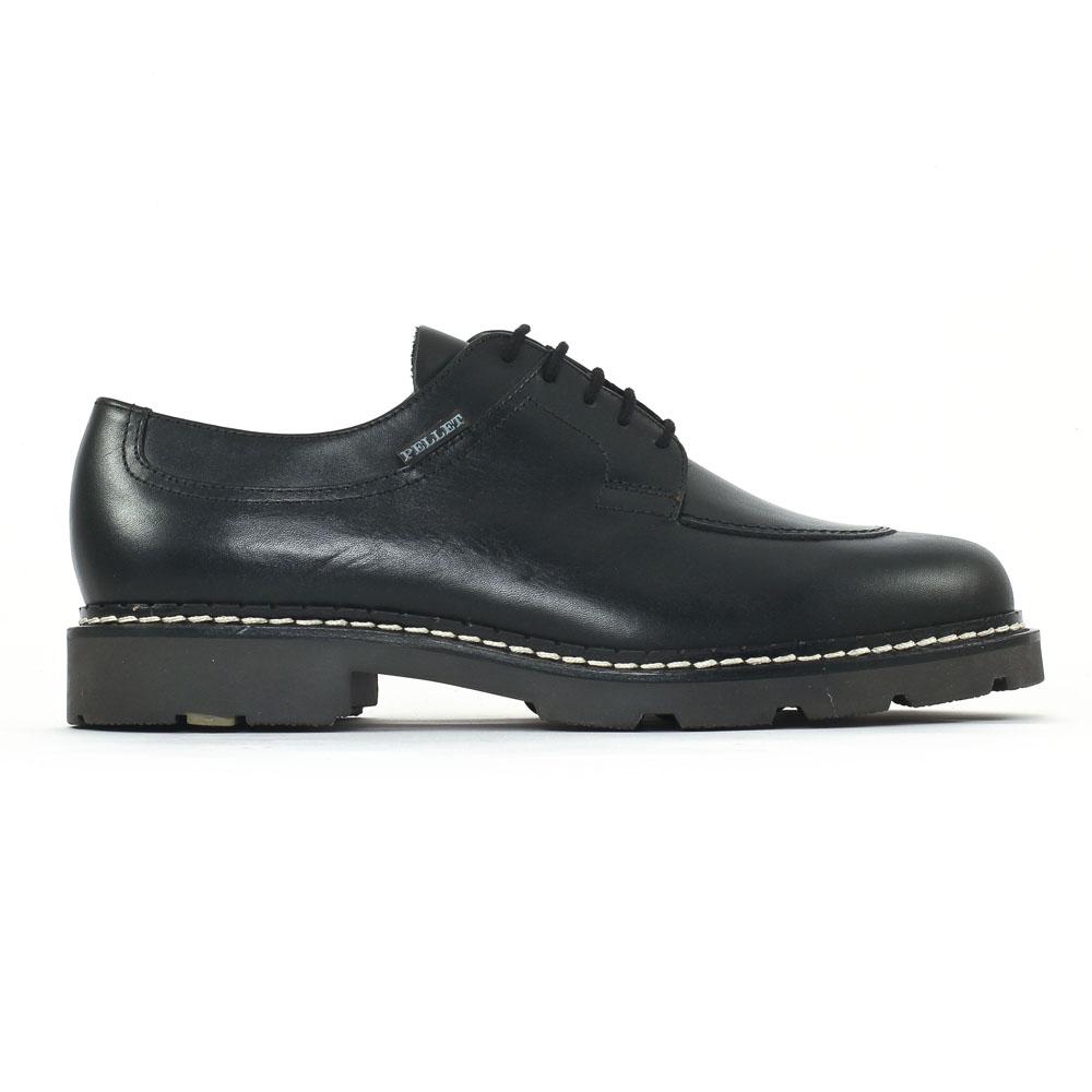 buying now best website official store Christian Pellet Montario Noir | chaussure basse à lacets ...