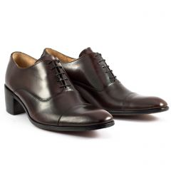 Chaussures homme hiver 20 - derbys à talon Simon Fournier marron foncé