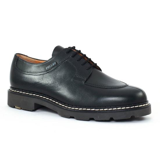 Chaussures Basses À Lacets Christian Pellet Montario Noir, vue principale de la chaussure homme