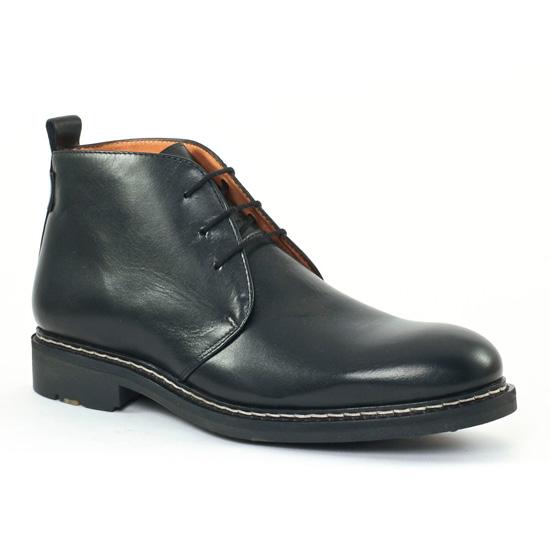 Chaussures Montantes Christian Pellet Mirage Noir, vue principale de la chaussure homme