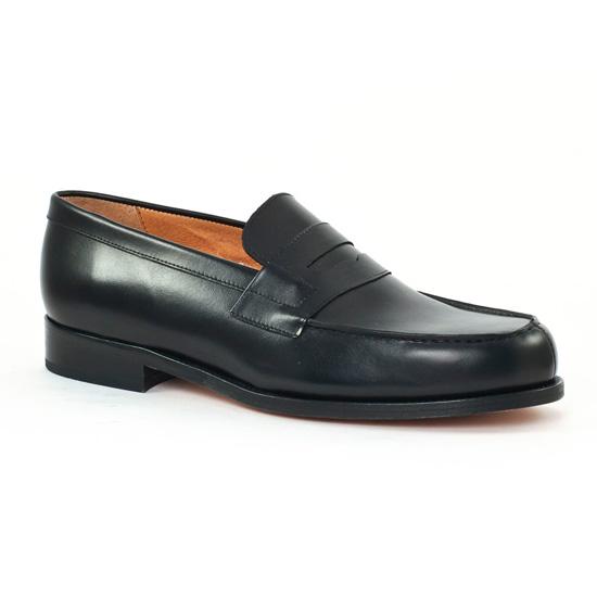 Mocassins Et Bateaux Christian Pellet Colbert Noir, vue principale de la chaussure homme
