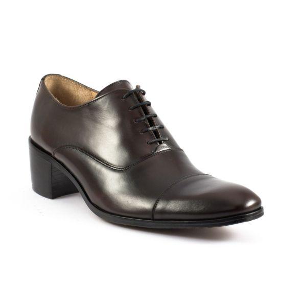 Chaussures Basses À Lacets Simon Fournier Drouot Marron, vue principale de la chaussure homme