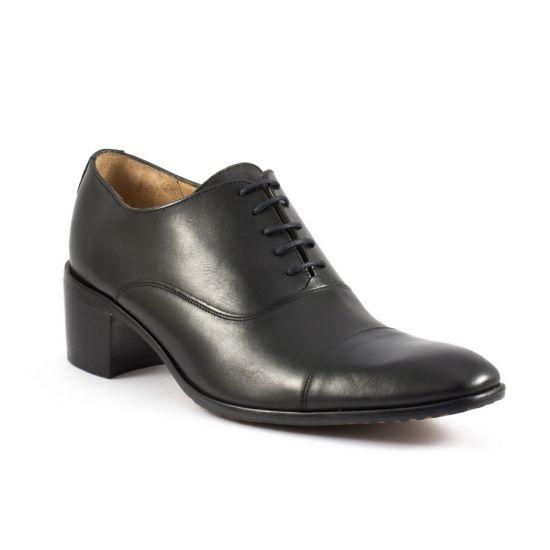 Chaussures Basses À Lacets Simon Fournier Drouot Noir, vue principale de la chaussure homme