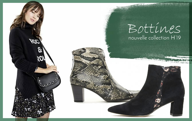 bottines et boots femme nouvelle collection hiver 2019