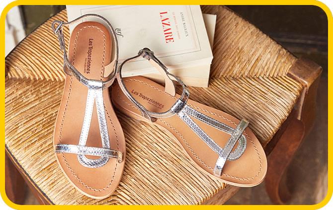 sandales plates en soldes
