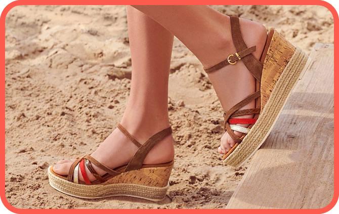 sandales à talon haut en soldes